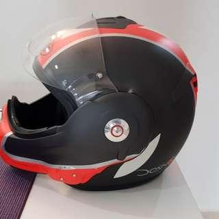 Rare Roof Desmo flipped helmet
