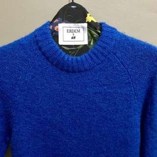 Erdem H&M Blue Sweater