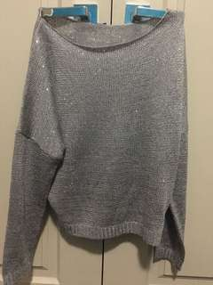 Knitted Sequin long sleeve top