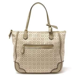 Coach 26427 Poppy Signature C Metallic Outline ToteBag Khaki