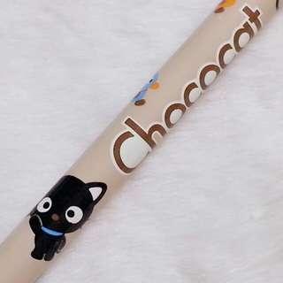 1997年絕版 ChocoCat 公仔圖案 HB 木鉛筆Sanrio人物 小黑貓
