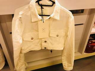 White Denim  jacket New with tag