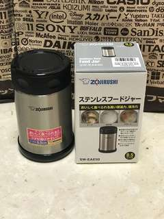 Zojirushi Food Jars 500ml - durable stainless steel; 9cm By 9 Cm By 15.2cm; 7.5cm Mouth Opening; 315 Grams