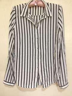 Stripe longsleeved top