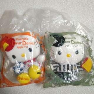 McDonald's 麥當勞 2002年絕版 Hello Kitty 可變身毛公仔共2個