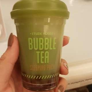 Etude house green teaa bubble tea sleeping pack oily acne skin