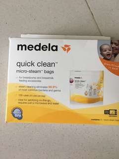 Medela quick clean breastfeeding steam bag