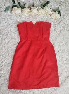 JellyBean Red Tube Dress