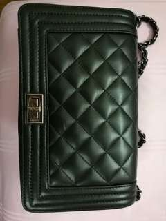 Sale !!Tasbijoux  black quilt leather bag with free postage