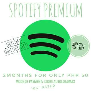 SPOTIFY PREMIUM 2MONTHS for only PHP 50 (LEGIT!!!)