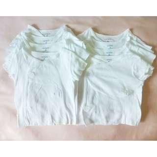 Carter's Baby Clothes Side Snap White Kimono Tee Top