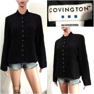 (L) Covington black formal corporate top
