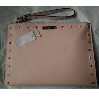 NY & Co baby pink clutch with studs