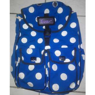 🚚 EVA 藍色 斑點後背包