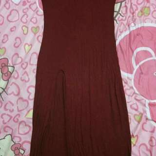 Fitted Maroon dress