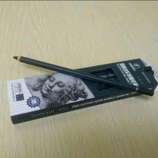 [全新]馬利牌鉛筆形炭筆 Charcoal