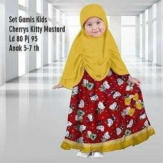 Set gamis kid cheryys kitty mst