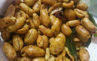 250 GRAM SPICY PEPPER PEANUTS MOM MADE HOME MADE CHILLI SPICY PEANUTS NUTS NEW FRESH