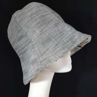 🚚 手作帽 棉麻大嘴鳥裡6片百合帽 帽圍56