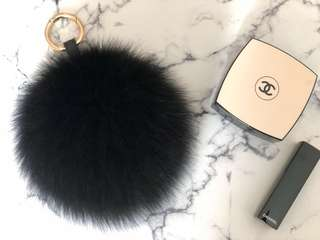 High quality Fox Fur Pom Pom bag charm/key chain