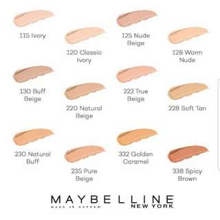 Any 2 for RM40 Maybelline FitMe Foundation