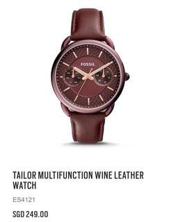 Fossil Multifunction Wine Leather Watch