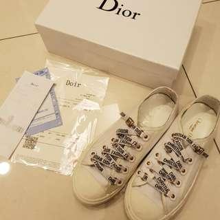 dior2018新款白色帆布鞋 原單