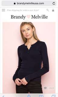 Brandy Melville long sleeve top with buttons