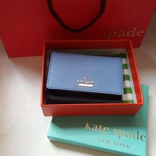 全新 美國 new york Kate Spade Card Holder 咭片套連鎖匙包 可放八達通 員工證 鑰匙包 散紙包 卡片 wallet key bag