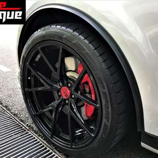 With Install! Car Wheel Arch Side Rubber Fenders!