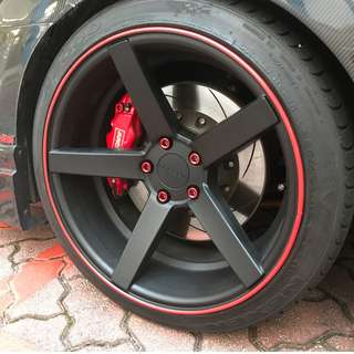 Car Sports Rim Protector Wheel Band! Installation available!