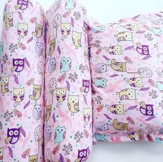 Baby Bedding set - Pink Owl