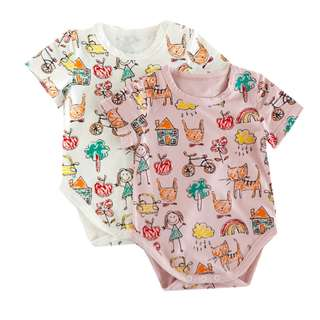 BMT422 - Cute Drawing Print Onesie *Cotton*