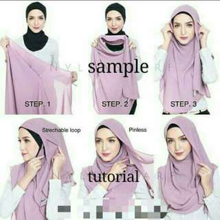Instant shawl clearance with rubber band - last 2pcs