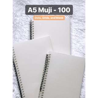 A5 Muji Notebook Dotted, Grid, and Blank