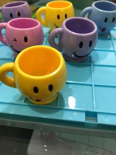 Miniature Smiley Faces Cups