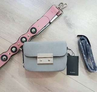 Zara Flower Strap Bag