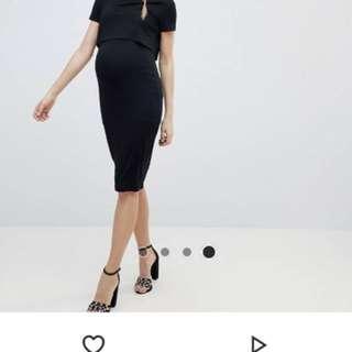 ASOS maternity layer double bodycon dress