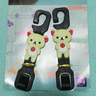 Cute bear car hook hanger (1 pair)