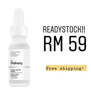 Readystock THE ORDINARY SALICYLIC ACID 2% SOLUTION