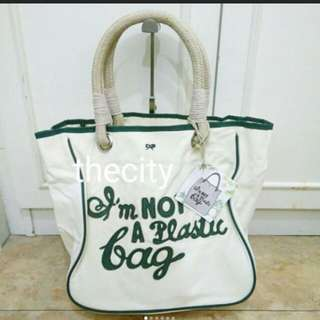 "BRAND NEW - AUTHENTIC ANYA HINDMARCH ""IM NOT A PLASTIC BAG"" TOTE BAG"