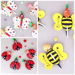 Birthday party door gift lollipop diy Holder