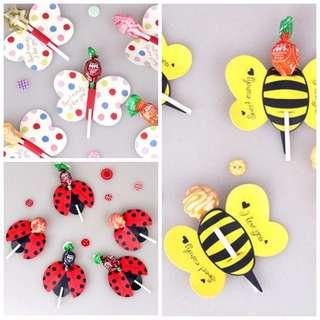 Birthday party door gift lollipop diy Holder
