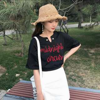 Instock ✨ ulzzang embroidery top