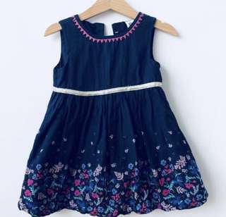 Baby b'gosh Navy Party Dress - 3 year old