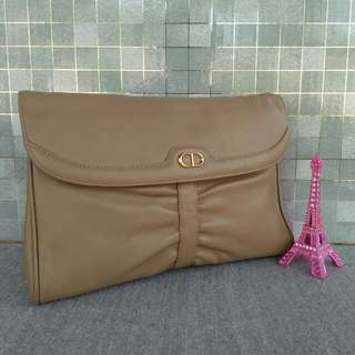 Christian Dior leather clutch