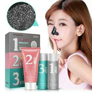 Bioaqua black mask 3s step pengangkat komedo