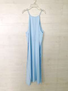 Light Blue Long Top with slit
