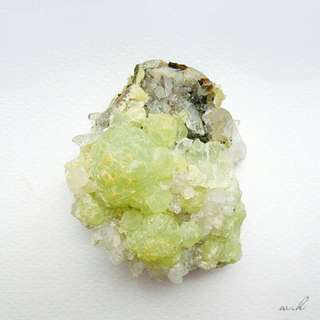 Green Prehnite and Quartz (Display Specimen)