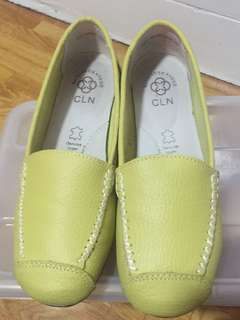 Brand New CLN Apple Green Loafers